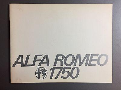 1968 Alfa Romeo 1750 Sedan Showroom Brochure, English RARE!! Awesome L@@K