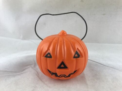 Vintage Union Prods Halloween Decoration Jack O Lantern Light Eyes Pumpkin WORKS