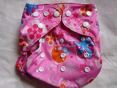 New Cheery Flower Cloth Diaper Cover Double Gusset FlipThirstieBummis PUL EB22