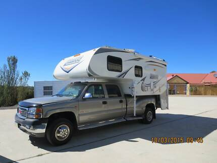 2002 Chevrolet GMC SIERRA Dual Cab Dually with Lance Camper