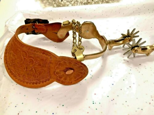 WESTERN  PAIR OF NORTH & JUDD 1930 SPURS MUSEUM COWBOY RARE ANTIQUE