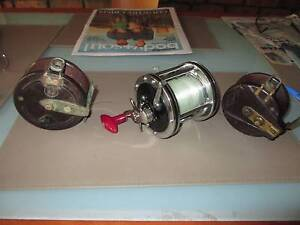 3 x Vintage fishing reels - 2 are Bakelite Golden Grove Tea Tree Gully Area Preview