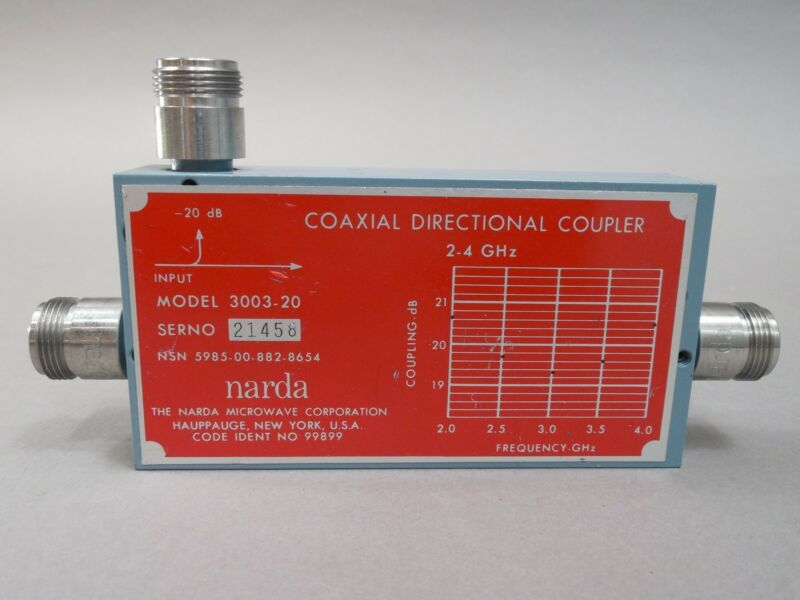 Narda 3003-20 Coaxial Directional Coupler 2-4 GHz USED