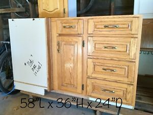 Assorted kitchen cupboards / cabinets