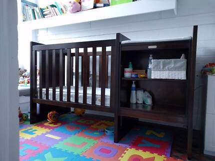Cot/Mattress, bed, drawers and change table from Newborn to Child