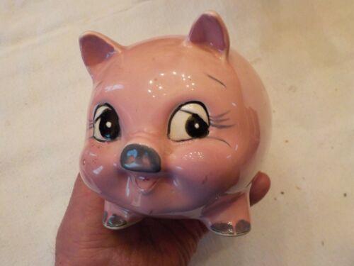 VINTAGE CERAMIC PINK PIGGY BABK