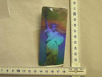 1 Hologramm Laserbild Motiv Freiheitsstatue (X-67)