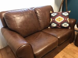 Excellent Condition Real Leather Loveseat