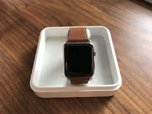 Bracelet cuir Apple Leather Saddle Brown 42 mm neuf