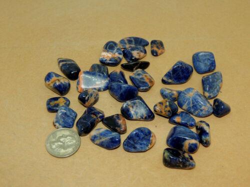 Sunset Sodalite Tumbled Stones 1/4 pound (16681)
