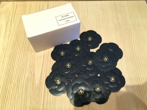 NEW RARE 2020 CHANEL PACK of 48 PIECES PAPER BLUE DENIM CAMELLIA STICKERS
