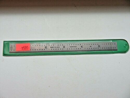 4R 6 Inch Flex Ruler Made In USA Stainless NEW