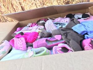 Boxes of Girls clothing  newborn up to 6/7T, 2T-4T etc