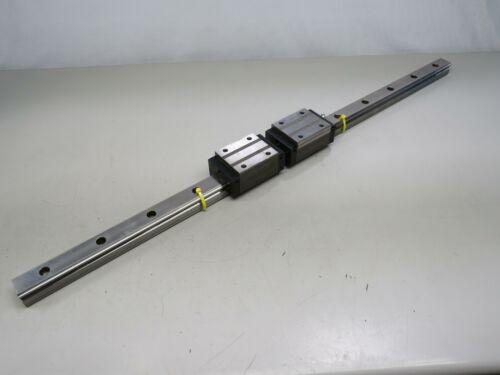 Lot of 2 NSK LH35 Ball Bearing Linear Blocks w/ 38 In Linear Rail T162747