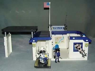 Playmobil 5917 Take Along Police Headquarters with ACCESSORIES VGC Complete