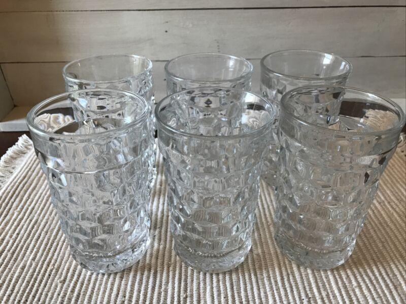 "Vintage Fostoria American 5"" Drinking glass Water ice tea tumbler set 6"