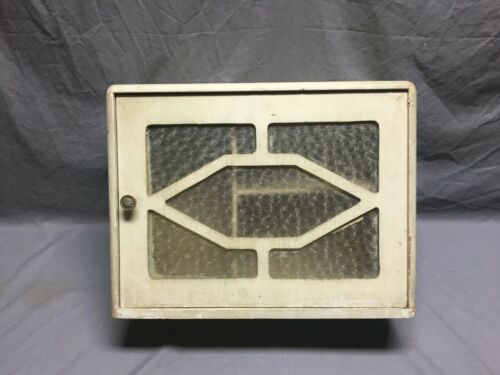 Antique Medicine Cabinet Chest Cupboard Florentine Glass Shabby Vtg Chic 358-19J