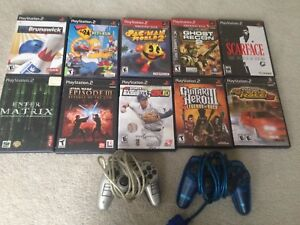 PlayStation 2 Games + 2 Controllers