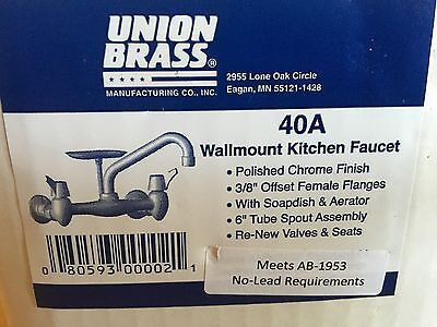 Union Brass 40a Wall mount Kitchen Faucet New In Box