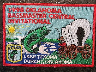 Rare Vintage Bassmaster Tournament Patch 1998 Oklahoma Central Invitational