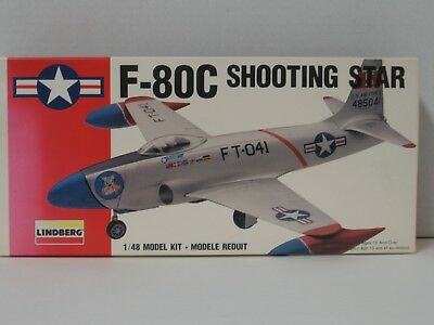 Lockheed F-80C Shooting Star 1/48 Scale Lindberg model kit 70552 Age 10 ^ for sale  Bagley