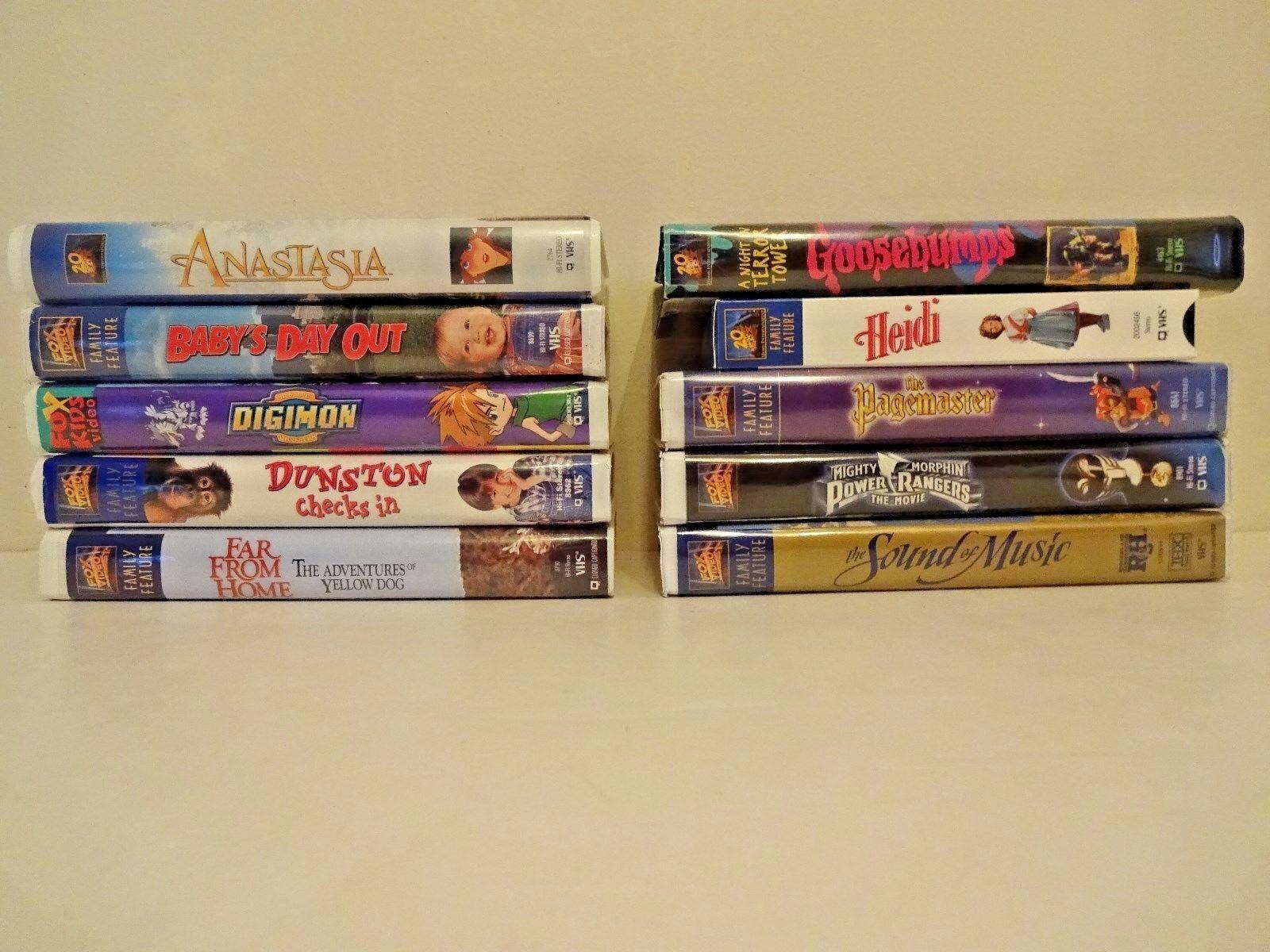 Walt Disney Warner Bros. Fox VHS Videos Movies You choose Pick 8 for $15