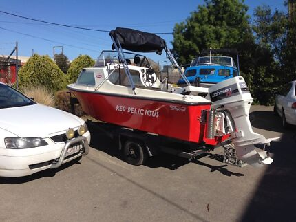 BOAT.  Stejcraft half cabin 15 ft  Williamstown Hobsons Bay Area Preview