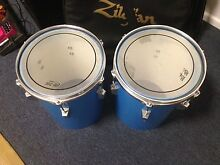 Two blue drums. Hand made. Solid. Buderim Maroochydore Area Preview