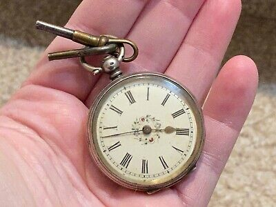 Old Vtg 1888 Ladies Pocket Watch Jewelry With Key #6447 With Engraved Name