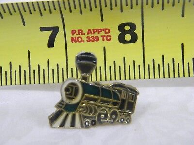 Vintage Train Lapel Pin and Back