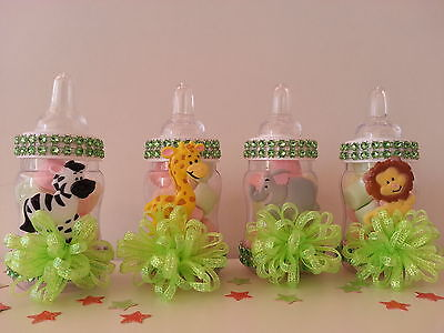 Jungle Baby Shower Party Supplies (12 Fillable Bottles Baby Shower Favors Prizes Games Safari Jungle Noah's)