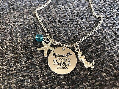 NECKLACE Mermaid kisses star fish wishes gift  #59 fun party favor halloween - Fun Halloween Gifts