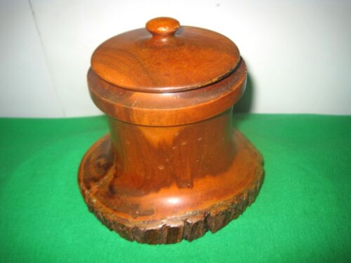 Very Unique Looking Solid Australian Wood Tree Branch Round Storage Box with Lid