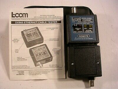 L-com Model Dxb65 Coax Bnc Rj45 10base Ethernet Dual Cable Tester