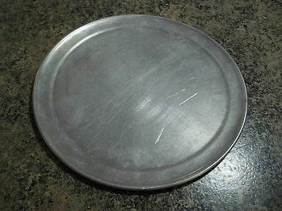 "lot of 3 pizza pans 12"" aluminum wide rim used"
