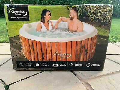 CleverSpa® Sequoia 4-Person Inflatable Hot Tub - Like Lay-Z Spa Lazy Helsinki