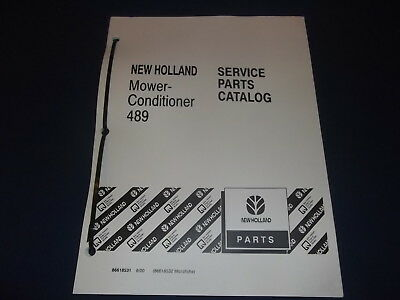 New Holland 489 Mower Conditioner Parts Book Manual