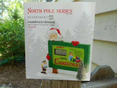 DEPT 56 NORTH POLE VILLAGE Accessory COUNTDOWN TO CHRISTMAS NIB