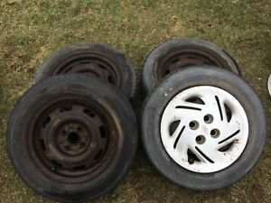 Ford Escort Rims with 2 good tires