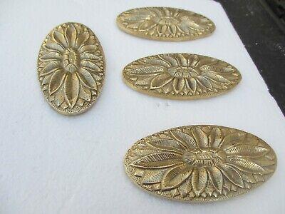 Brass Flower Ormolu Furniture Hardware Gold Mount Floral Flower Antique STYLE 4