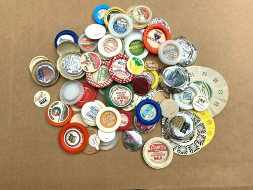Vintage Milk Bottle Cap Lot of 90 All Different
