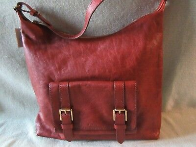 (Fossil Cleo Brown Soft Leather 1 Strap Shoulder/Hobo Bag Really Nice NWT $198)