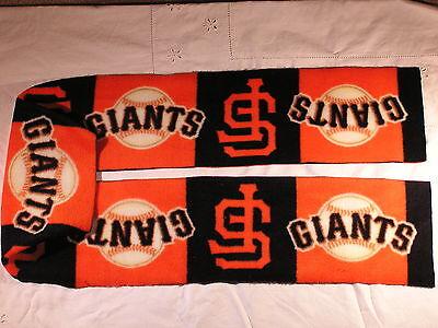 San Francisco Giants Squares Fleece Scarf no fringe