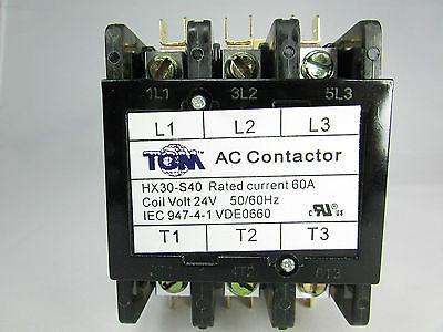 Definite Purpose Contactor 60amp3pole24volt New Heat Pump Ac Refrigeration