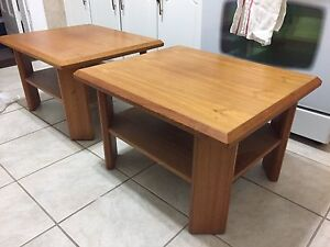 Wooden side tables - $20 for 2pc. set
