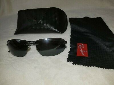 Ray Ban Carbon Fiber Tech Polarized RB 8303 Rimless Sunglasses Italy great cond.