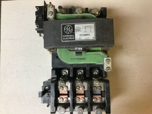 General Electric GE CR206F0 Size 4 Motor Starter With 120 Volt Coil