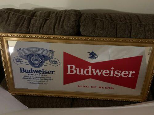 Budweiser Beer mirror NEW NEVER DISPLAYED Bud