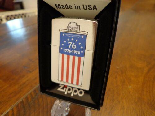 ZIPPO BICENTENNIAL FUEL CAN DESIGN 1776-1976 ZIPPO LIGHTER MINT IN BOX