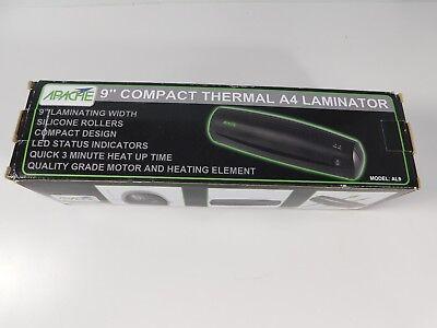 Apache Al9 9 Thermal Laminator And 20 Laminator Pouches Black New